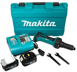 Аккумуляторная прямая шлифмашина Makita DGD800RFE + 2 акб 18 V 3 Ah + з/у + кейс + 2 гаечных ключа