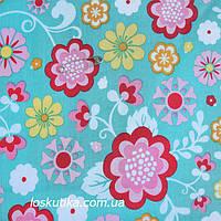36010 Краски детства. Ткани с цветочным узором. Подойдет для изготовления летней одежды и для пэчворка.