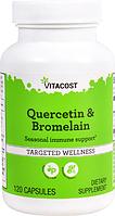 Кверцетин і бромелайн, Vitacost, Quercetin & Bromelain, 120 капсул