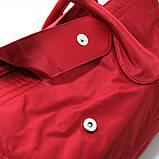Красная большая сумка женская Epol текстильная дорожная спортивная, фото 2