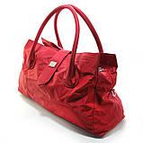 Красная большая сумка женская Epol текстильная дорожная спортивная, фото 3