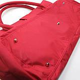 Красная большая сумка женская Epol текстильная дорожная спортивная, фото 6