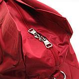 Красная большая сумка женская Epol текстильная дорожная спортивная, фото 7