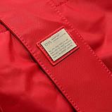 Красная большая сумка женская Epol текстильная дорожная спортивная, фото 8