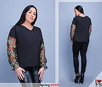 Блуза женская нарядная большие размеры Г152