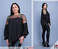 Блуза женская нарядная большие размеры Г03941, фото 1