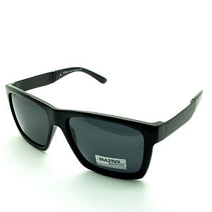 Солнцезащитные очки прямоугольные  оправа пластик+метал Matrix черный мужские ( MT8345-01 )
