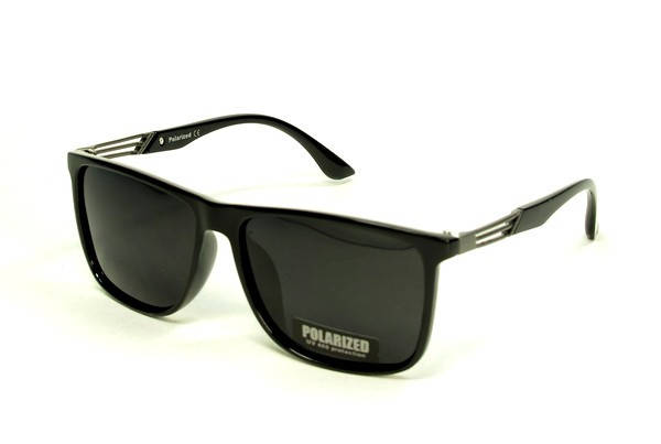Солнцезащитные очки прямоугольные  оправа, пластик  Polarized черный мужские ( P5250 C1 )  , фото 2