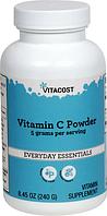 Витамин С (в порошке), Vitacost, Vitamin C Powder, 240 грамм
