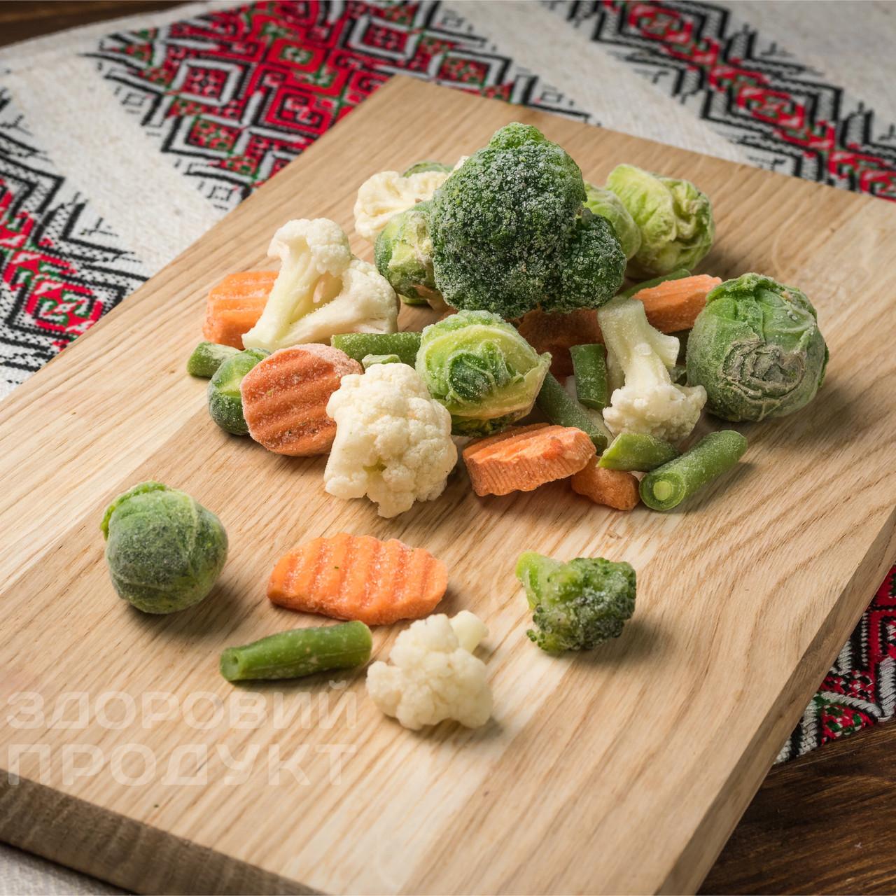 """Смесь """"Весенняя"""" (морковь, фасоль стручковая, брокколи, капуста цветная, капуста брюссельская) замороженная"""
