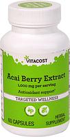 Асаи, экстракт, Vitacost, Acai Berry Extract, 1000 мг, 60 капсул