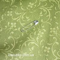 44018 Мотив барокко (зеленый). Ткани для кукол, пэчворка, трапунто, для художественной стежки.