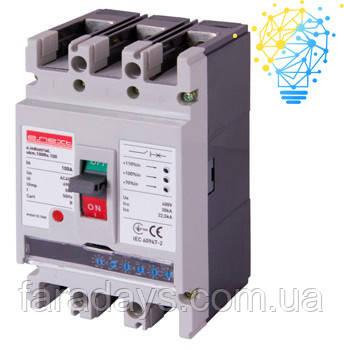 Шафовий автоматичний вимикач 3р, 100А (e.industrial.ukm.100Re.100) з електронним розчіплювачем