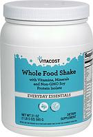 Витаминно-минеральный коктейль с соевым протеином и биофлав., Vitacost Whole Food Shake with Vitamins , 585 гр