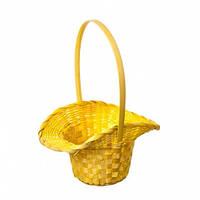 Корзина шляпа желтая