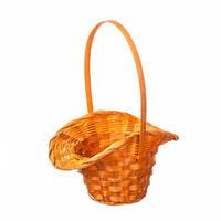 Корзина шляпа оранжевая