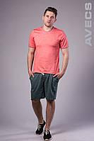 Футболка чоловіча з манжетом червона Avecs AV-30019 Розміри S M L XL 2XL, фото 1
