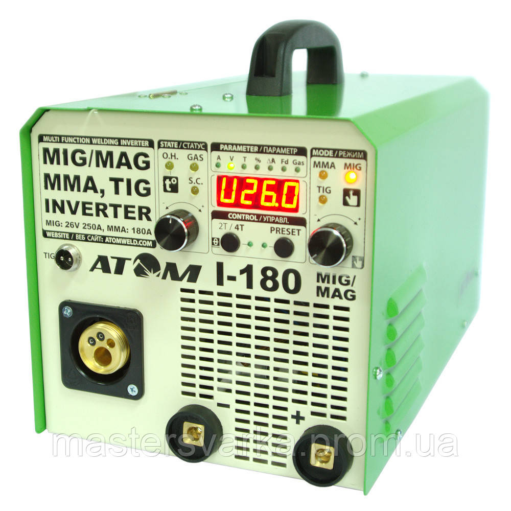 Сварочный инверторный полуавтомат Атом I-180 MIG/MAG с осциллятором