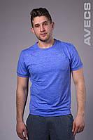Футболка мужская с манжетом синяя Avecs AV-30019 Размеры S M L XL 2XL, фото 1