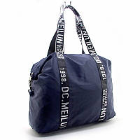 Синяя спортивная сумка Emkeke текстильная дорожная на плечо, фото 1