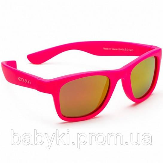 Детские солнцезащитные очки Koolsun неоново розовые серии Wave (Размер 1+) f94096d53bc4b
