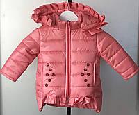 Детская демисезонная куртка на девочку 1-3 года персик, фото 1