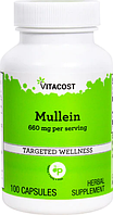 Коровяк, Vitacost, Mullein, 680 мг, 100 капсул