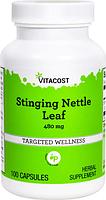 Крапива двудомная, Vitacost, Stinging Nettle Leaf, 480 мг, 100 капсул
