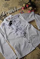 Нарядная белая школьная блузка рубашка детская на девочку 9, 11 лет.Турция!Детская летняя одежда