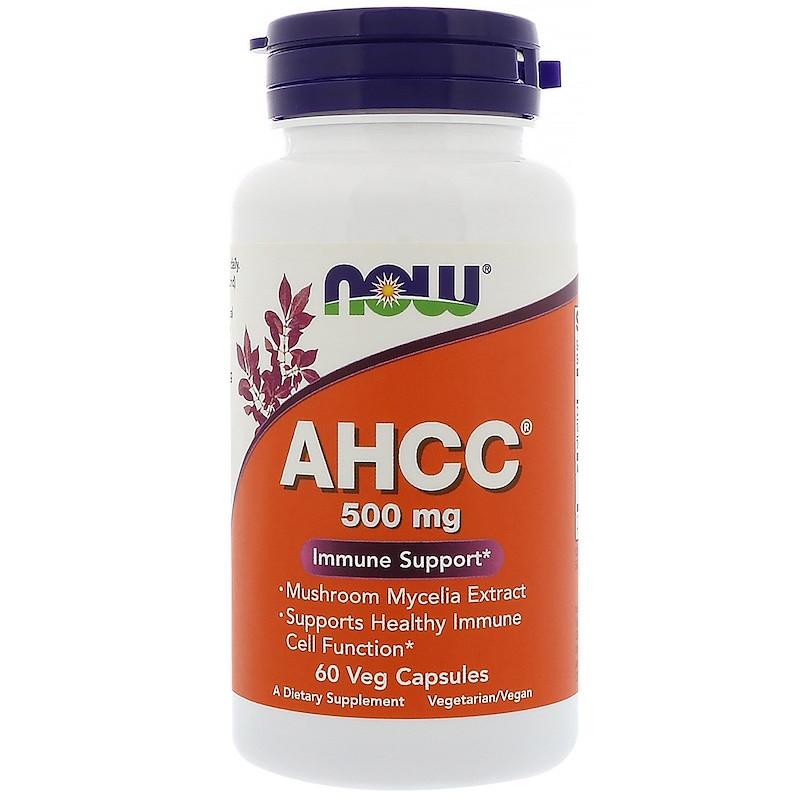 Иммунная поддержка AHCC, Now Foods, 500 мг, 60 капсул