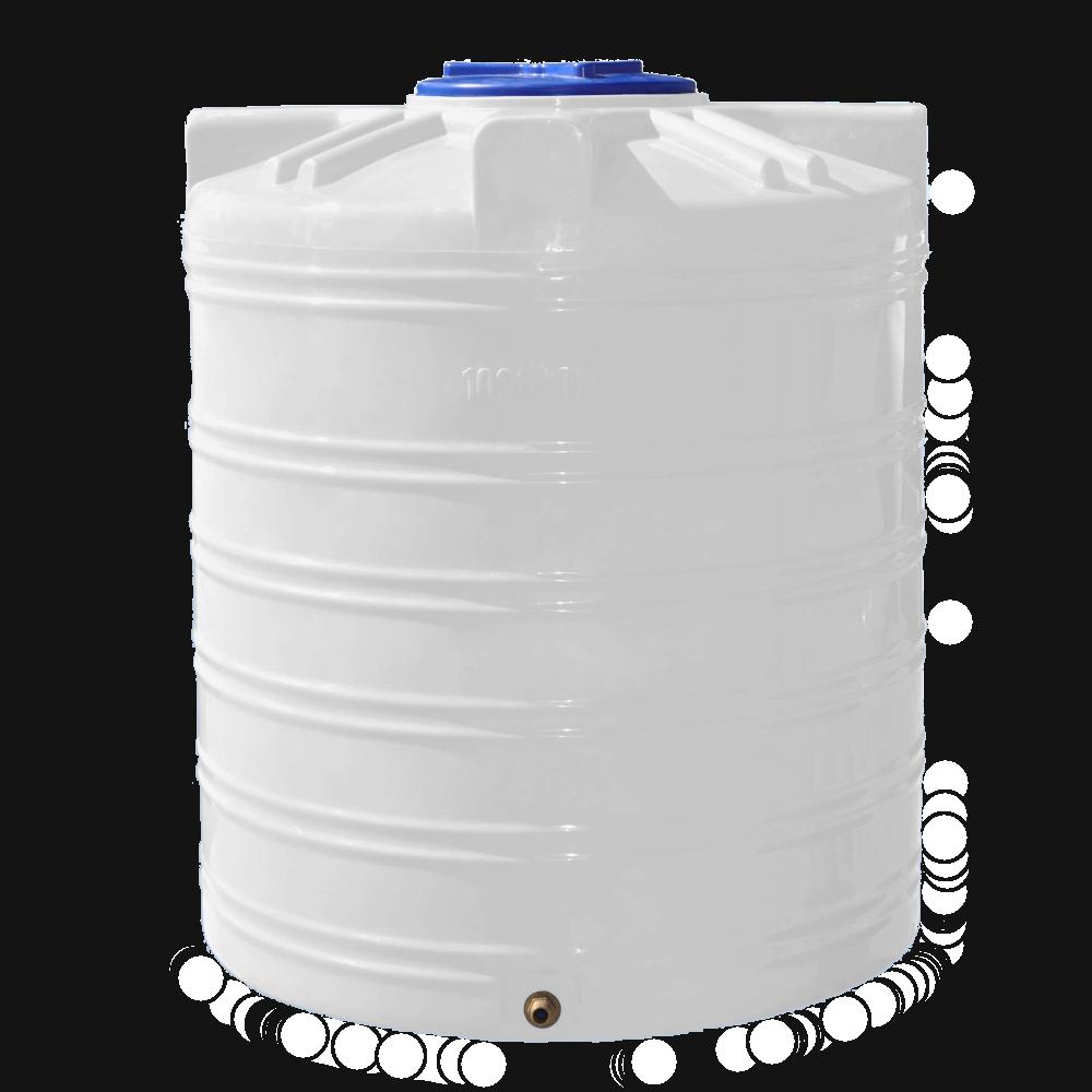 Емкость для хранения воды 1000 литров вертикальная