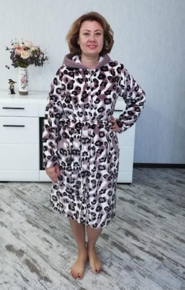 2b4c2f833f92 Женский короткий махровый халат большого размера-на молнии - Шоп и каталог  в Харькове