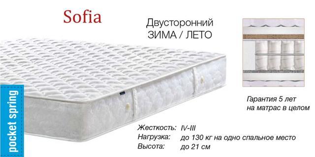 Матрас SOFIA, СОФИЯ (характеристики, фото 2)