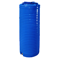 Емкость 300 л узкая вертикальная двухслойная