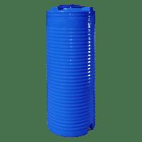 Емкость вертикальная 500 л. узкая, двухслойная