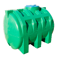 Емкость 1000 л. горизонтальная, двухслойная зеленого цвета