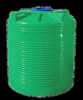 Емкость 1000 литров вертикальная, двухслойная зеленого цвета