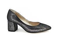 Удобные кожаные туфли на каблуке, фото 1