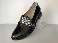 Лакированные туфли лоферы женские, фото 1