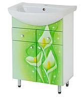 Тумба для ванной комнаты Салатовые каллы