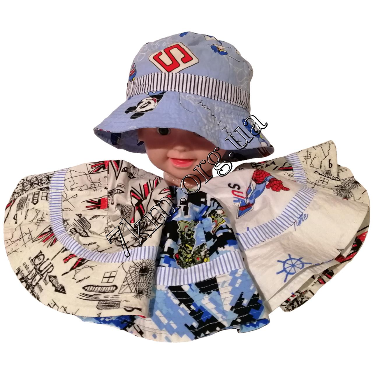Панама детская для мальчиков 52-54 р. хлопок Вьетнам Оптом 7755