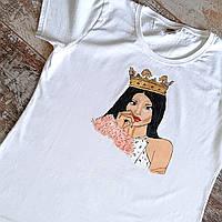 Женская футболка с рисунком Ручная роспись Подарок девушке женщине подруге