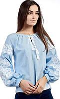 Женская вышиванка в голубом цвете, нежная, фото 1