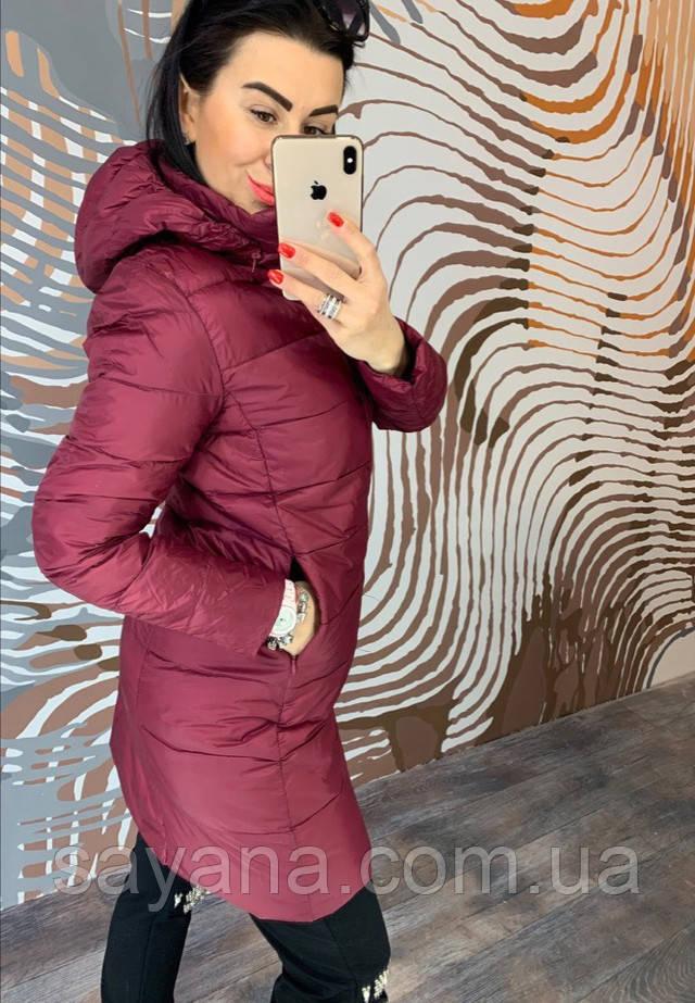 женское пальто из плащевки