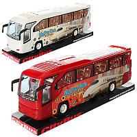 Автобус игрушечный3091B, инер-й, 38см, 2цвета, в слюде, 38-11-9см