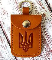 Брелок з кишенькою бурштиновий, фото 1