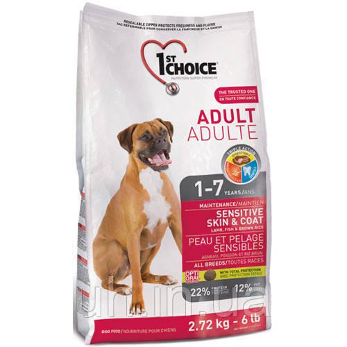 1st Choice Adult Sensitive Skin & Coat сухий корм для собак з чутливою шкірою і шерстю 15КГ