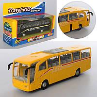 Автобус игрушечный 938W, металл, инер-й, 18см, 2цвета, в кор-ке,21-14-6,5см