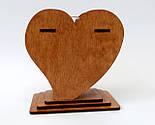 Маленька дерев'яна яна ваза «Любляче серце»: найкращий подарунок для коханої людини, фото 2