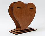 Маленька дерев'яна яна ваза «Любляче серце»: найкращий подарунок для коханої людини, фото 4